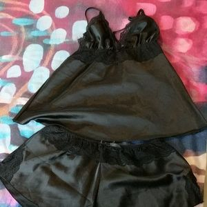 Black 2 piece Nightie